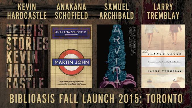 Biblioasis TO Fall Launch Books