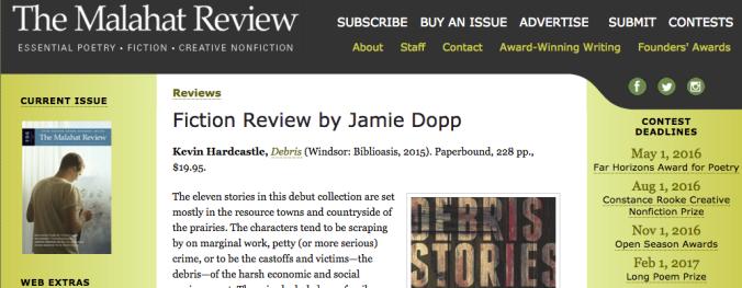 The Malahat Review Debris Review