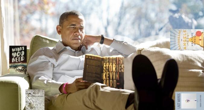 Obama Reading Danuta Titles - YEAH
